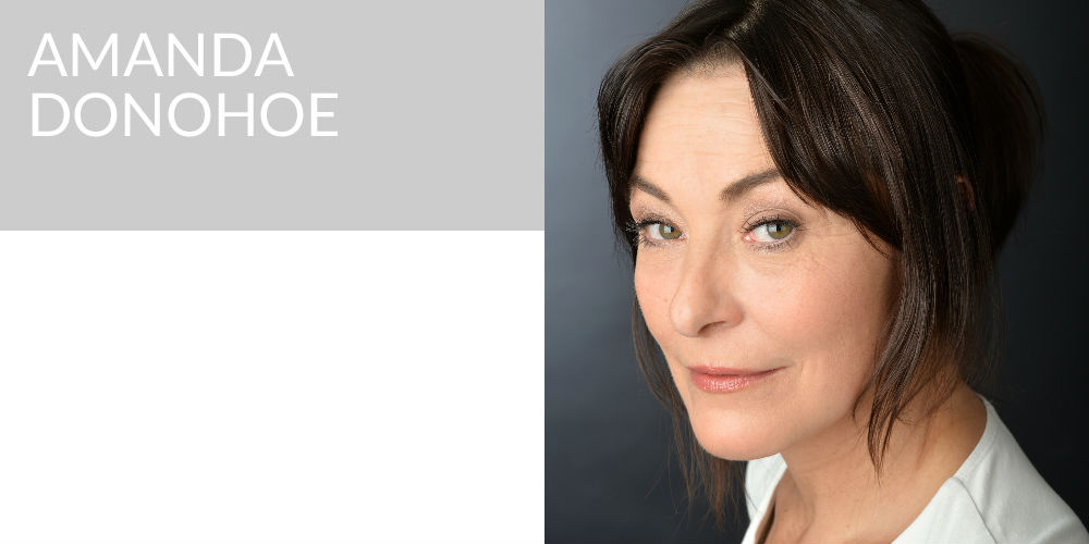 Amanda Donohoe on swing to shed